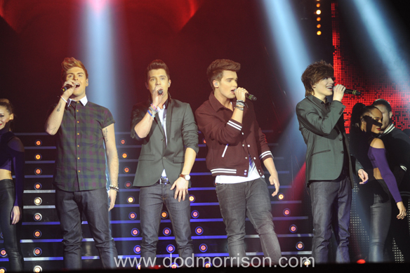 Union J Xfactor Aecc  Aberdeen feb 2013