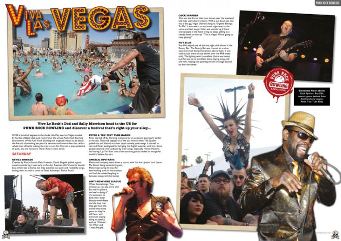 Punk Rock Bowling 2014 review/pics Vive Le rock magazine july 2014