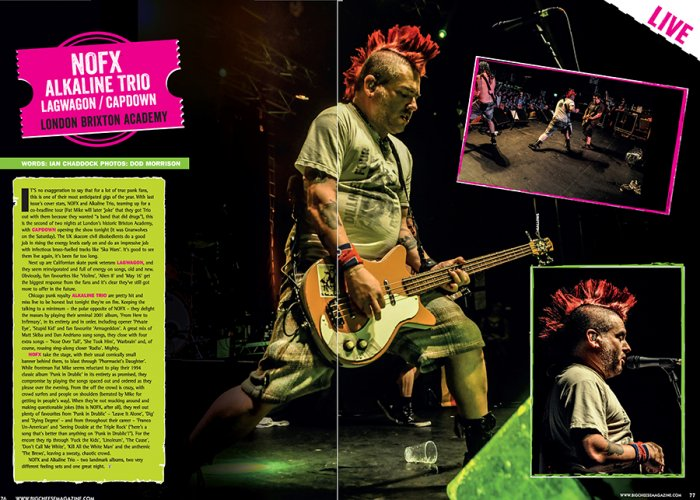 NOFX - Big Cheese Magazine - August 2015
