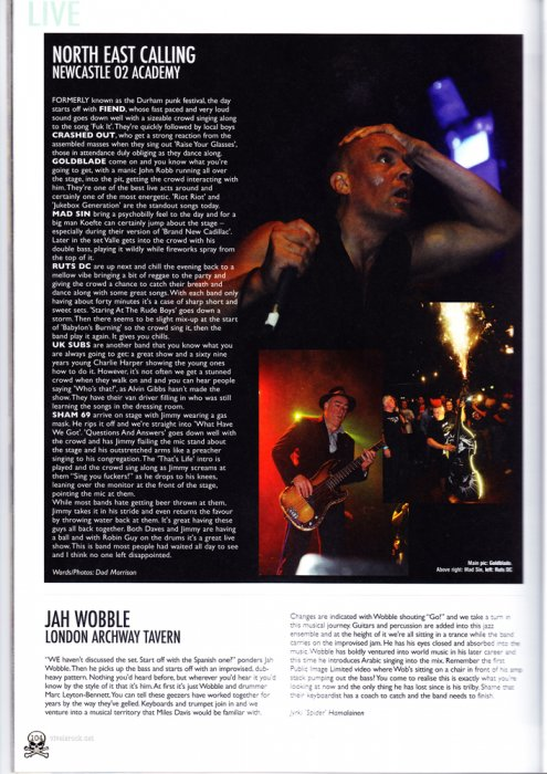North east calling punk festival - with Vive le rock magazine Oct 2013