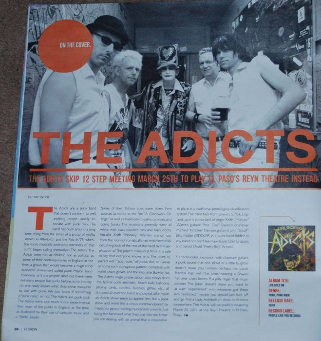 THE ADICTS - TEXAS MAG