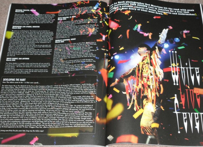 THE ADICTS - VIVE LE ROCK MAG NO.4 (MY AMERICAN TOUR DIARY AND PIC)