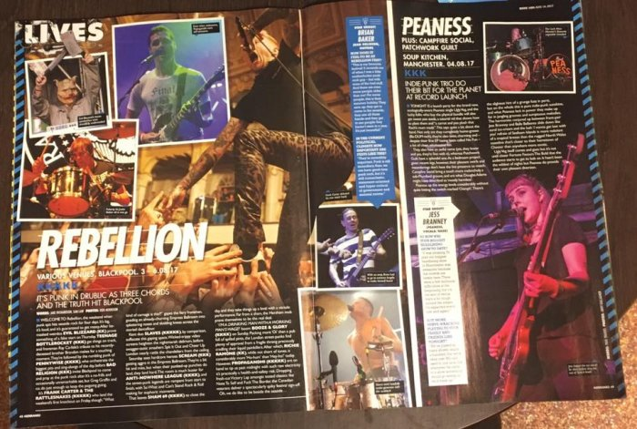 Rebellion 2017 - Kerrang magazine August 2017