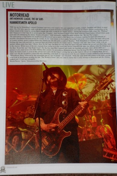 Motorhead - vive le rock issue 5